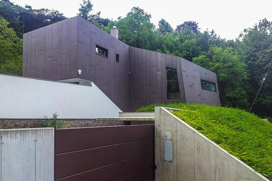 Spezial Fassade fibreC Einfamilienhaus