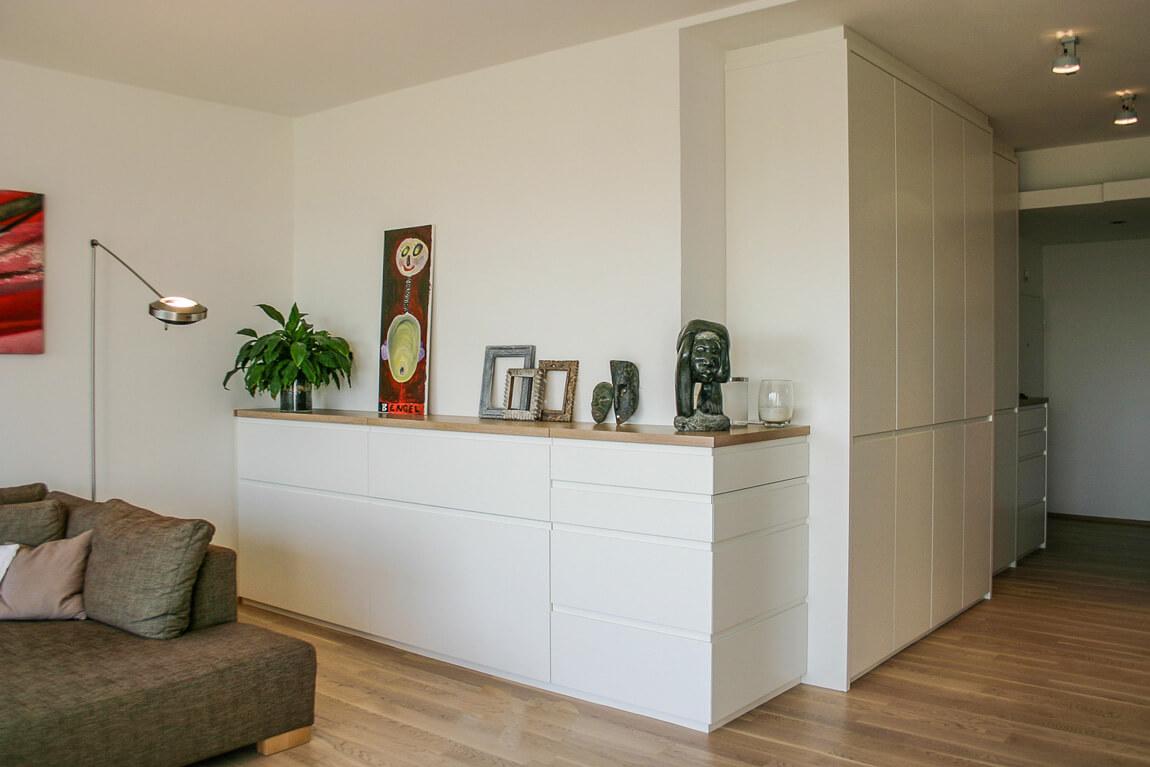 Vorzimmer - Wohnzimmer weisser Lack