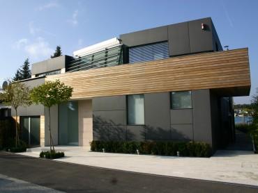Einfamilienhaus Dominik Petz Fassade fibreC und Zeder