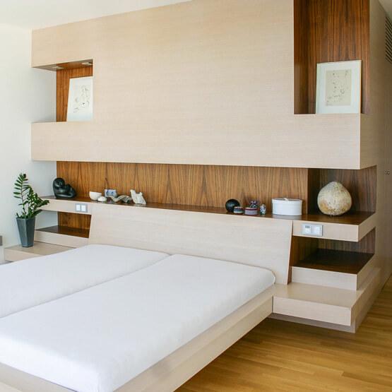 Schlafzimmer Eiche Nuss