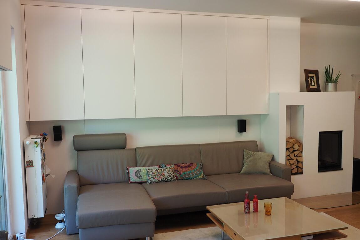 Wohnzimmer modern weiß nach Maß