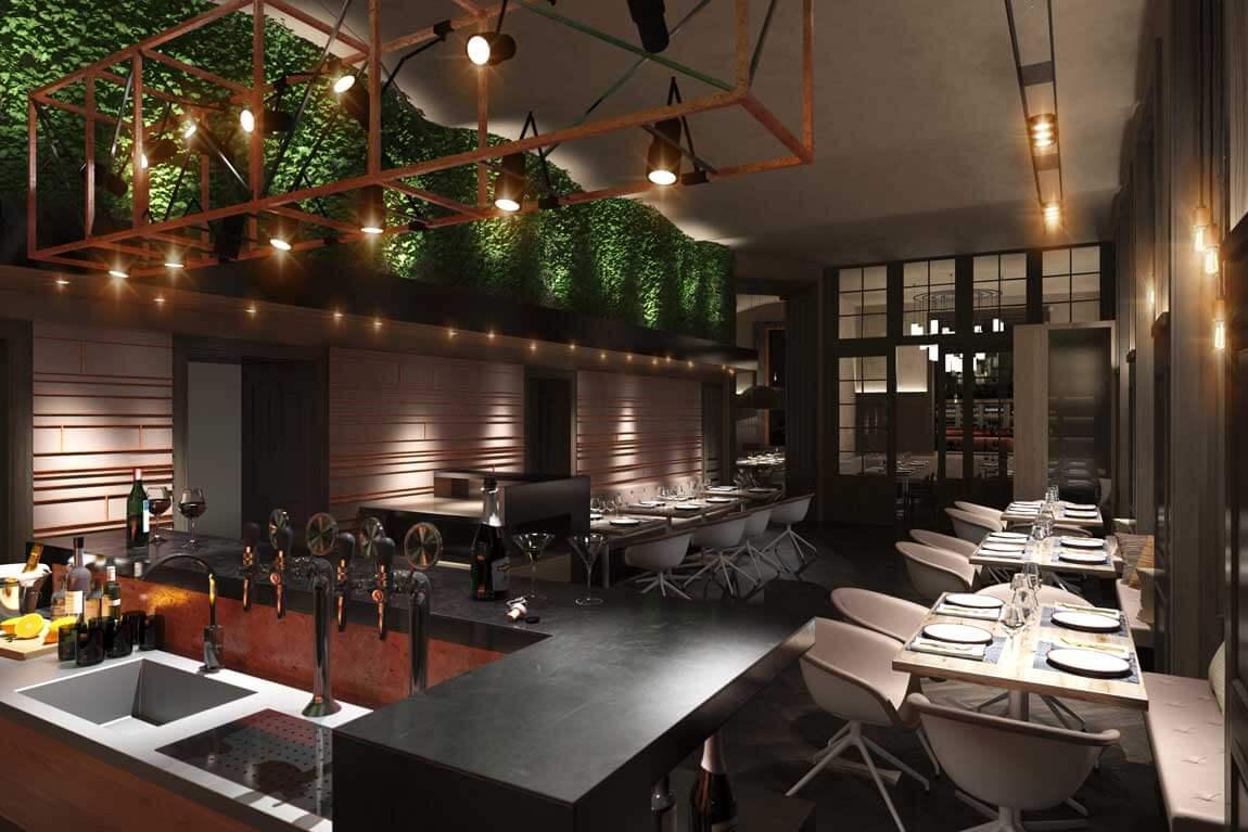 Restaurant Neu Planung Schank
