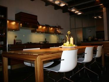 Innenarchitektur Tisch Zebrano 12 Personen