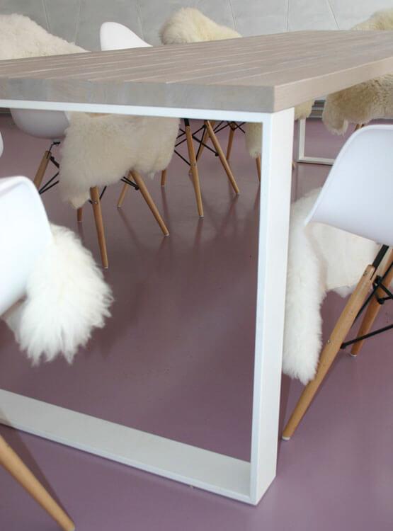 Tisch Gestell weiß Metall