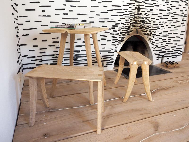 Kurage Tisch und Fuji Hocker