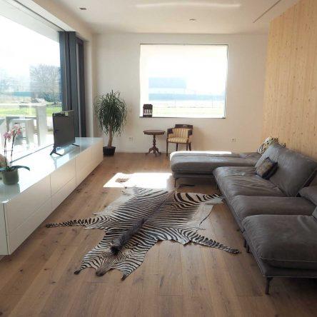 Wohnzimmer Couch Bullfrog, Vitrine weißer Schleiflack