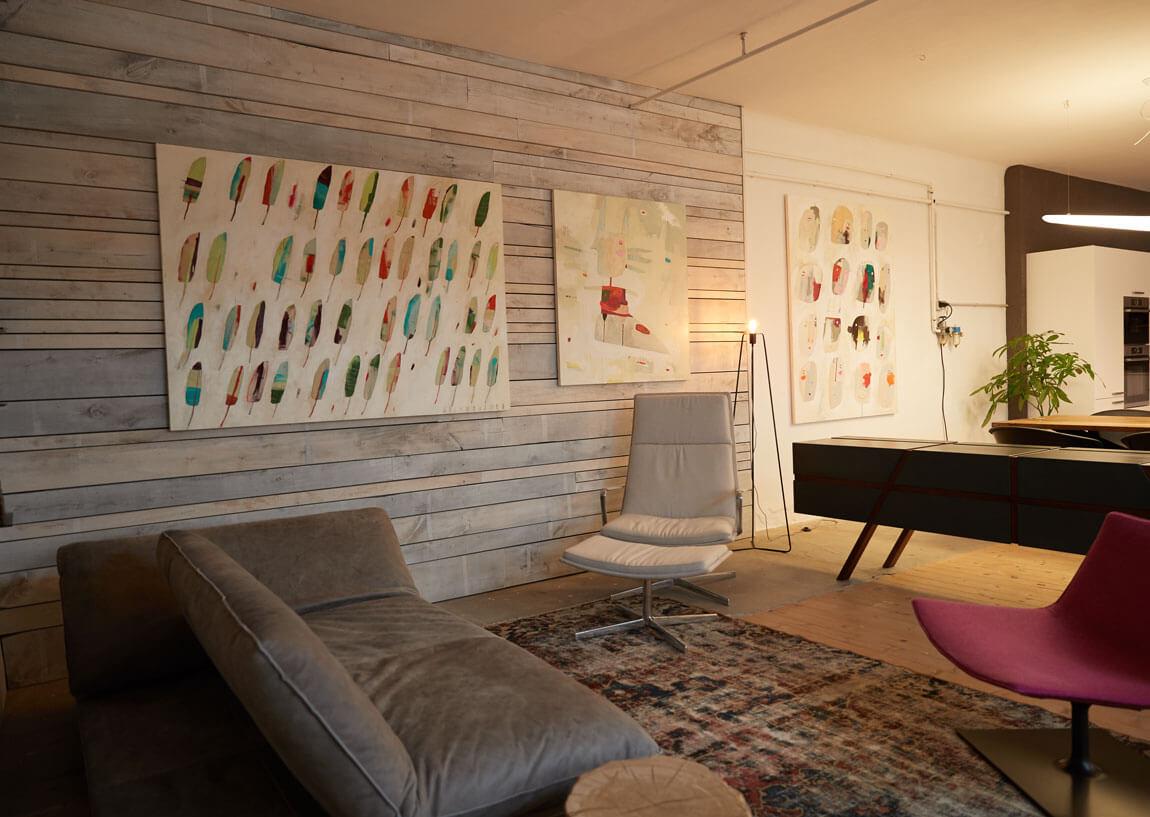 flexible moderne Couch Leder