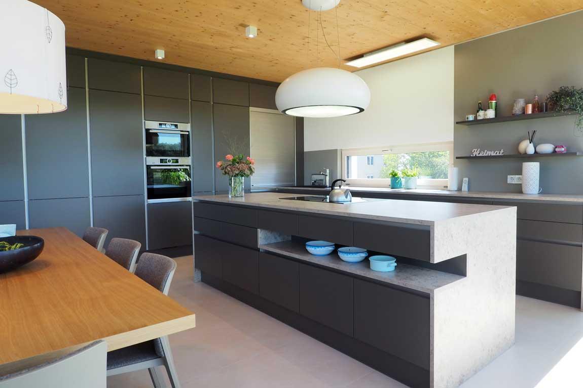 Ewe Küche dunkelgrau modern nach Maß