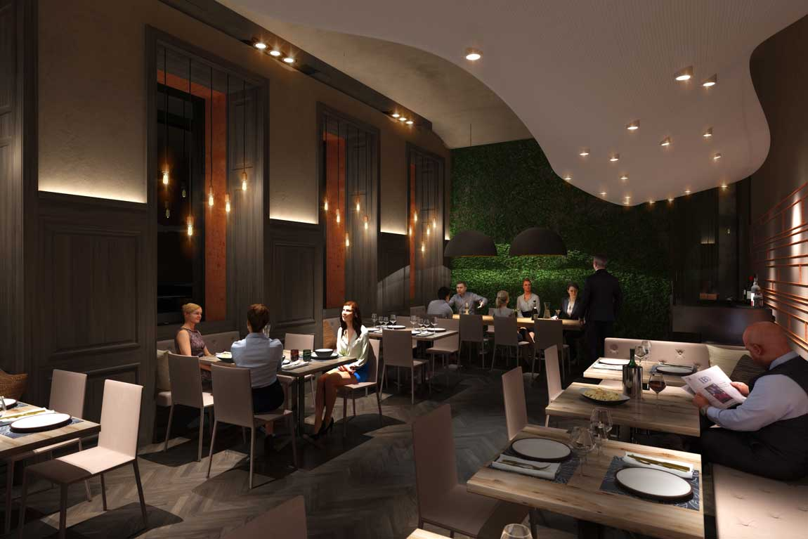 Planung für Neugestaltung Restaurant