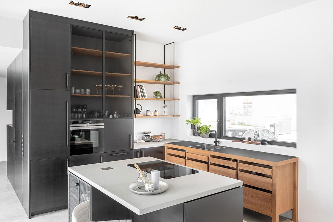 Innenarchitektur Küche modern schwarz nach Maß