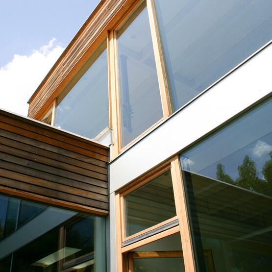Anschlussdetail Fenster raumhoch