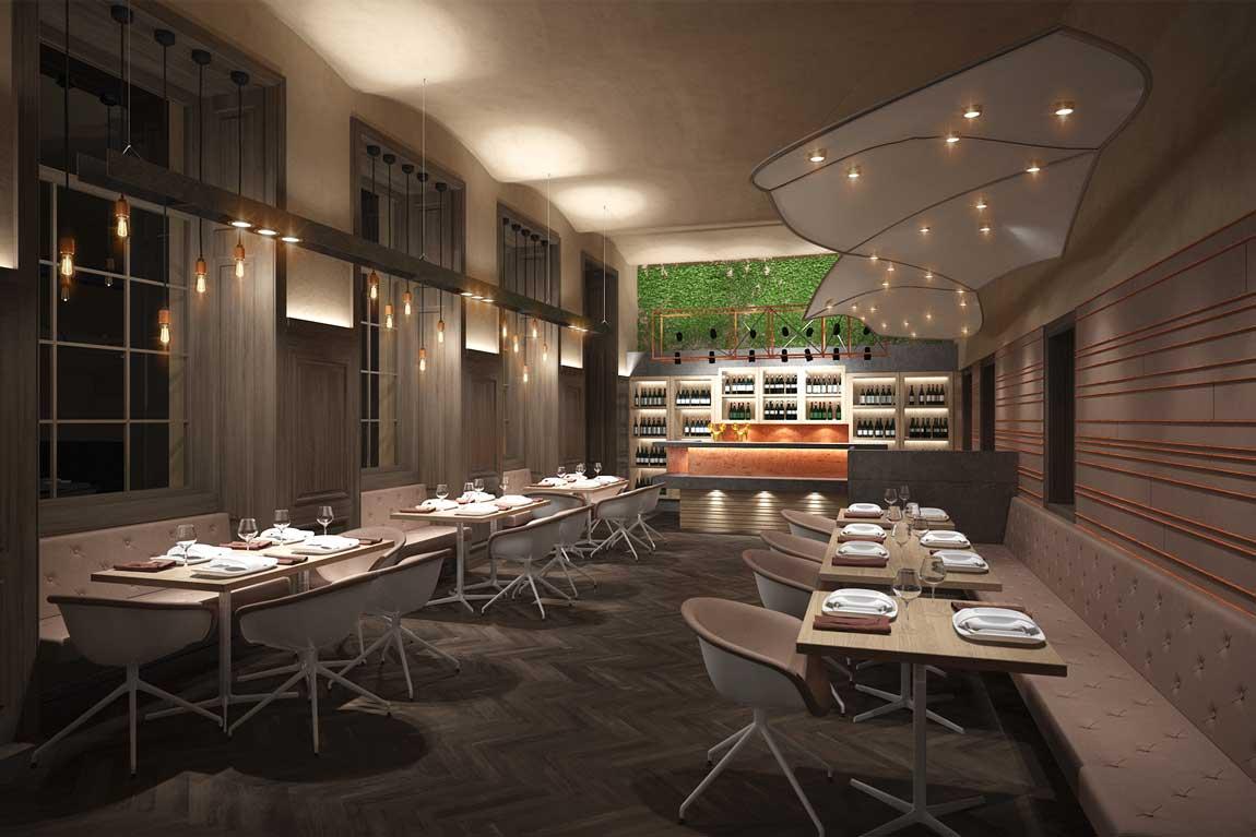 Restaurant Neu Planung Rendering 3D