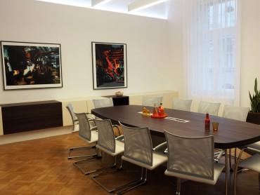 Büro Umbau Besprechungszimmertisch in Nuß