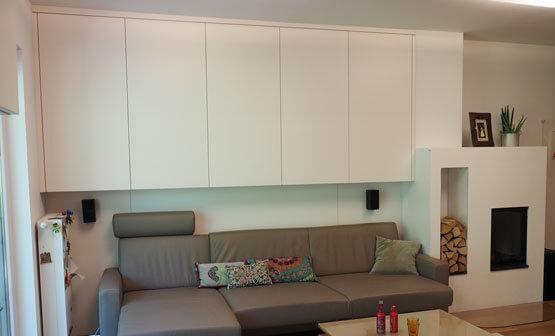 Wohnzimmer Stauraum weiß