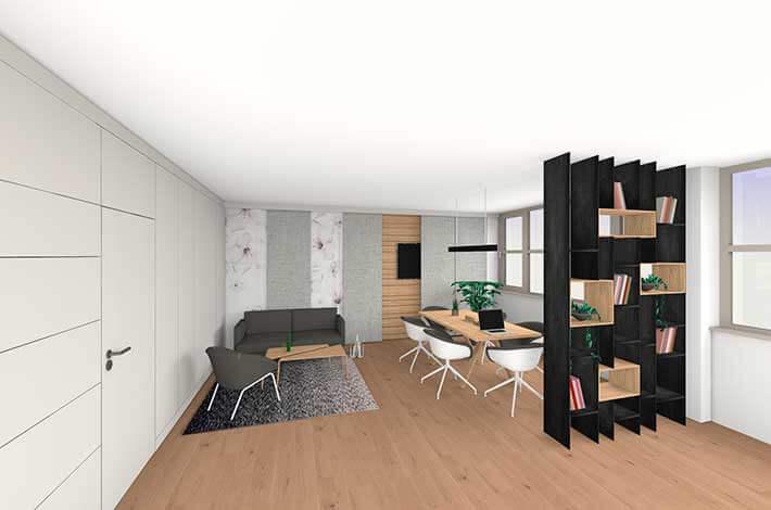 3D Planung Chefbüro Büroumbau Wien
