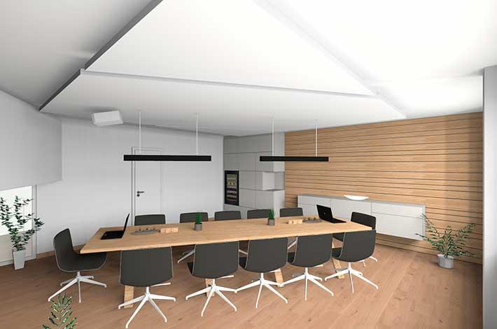 3D Planung Besprechungsraum Büroumbau Wien